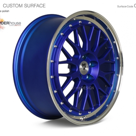 mbDESIGN LV1 Anodized Blue Polish